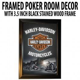 Poker Room art decor Framed Art  : Harley Davidson Motorcycles