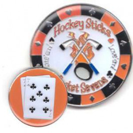 Poker Protector Card Guard Cover : 7-7 Hockey Sticks