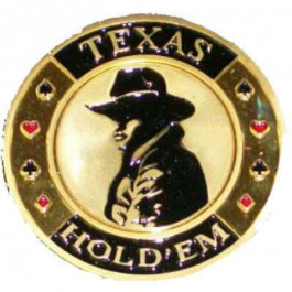 Poker Protector Card Guard Cover in Capsule :  Texas Holdem Cowboy Gold