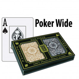 Kem Playing Cards Arrow Poker Wide Jumbo Black/Gold