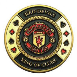 Poker Protector Card Guard Cover in Capsule :  Red Devils Manchester United