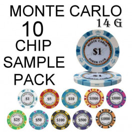 Monte Carlo 14g SAMPLE PACK 10 CHIPS