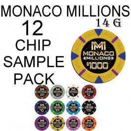 Monaco Millions 14g SAMPLE PACK 12 CHIPS