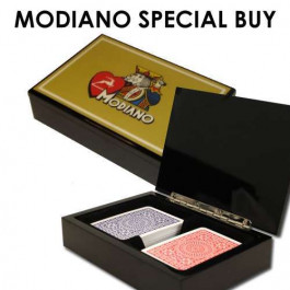 Modiano Gold Special Buy with 2 decks Texas Poker Wide Jumbo Index Red/Blue