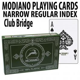 Modiano Club Bridge Regular Index 2 Decks - Green Burgundy