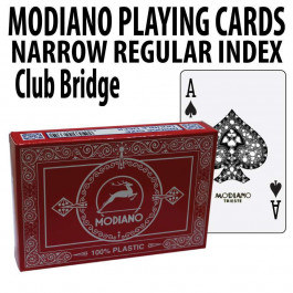 Modiano Club Bridge Regular Index 2 Decks - Red Blue