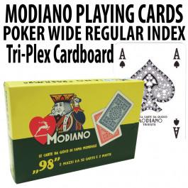 Modiano Playing Cards Ramino Tri-Plex Cardboard Wide Regular Index