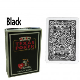 Modiano Texas Holdem Poker Wide Jumbo Index - Single Deck Black