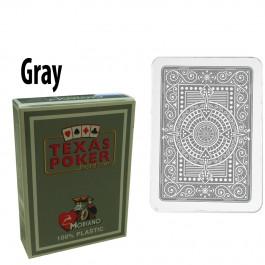 Modiano Texas Holdem Poker Wide Jumbo Index - Single Deck Gray