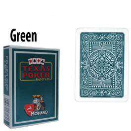 Modiano Texas Holdem Poker Wide Jumbo Index - Single Deck Dark Green