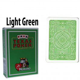 Modiano Texas Holdem Poker Wide Jumbo Index - Single Deck Light Green