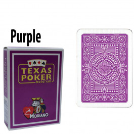 Modiano Texas Holdem Poker Wide Jumbo Index - Single Deck Purple