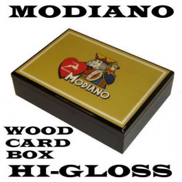 Modiano Hi-Gloss Wood Card Box