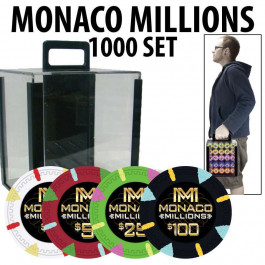 Monaco Millions Poker Chips 1000pc with carrier