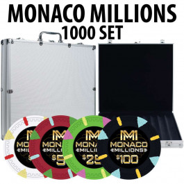 Poker Chip 1000 piece with aluminum case