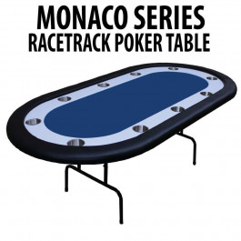 Blue Racetrack Poker Table