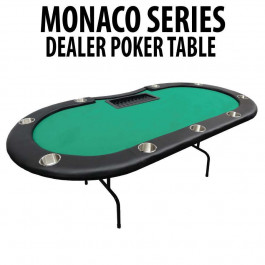 Green Folding Dealer Poker Table