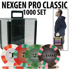 Nexgen Pro Classic Poker Chips 1000 W / Carrier and Racks