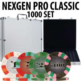 Nexgen Pro Classic Poker Chips 1000 W / Aluminum Case