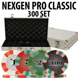 Nexgen Pro Classic Poker Chips 300 W / Aluminum Case