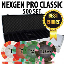 Nexgen Pro Classic Poker Chips 500 W / Aluminum Case