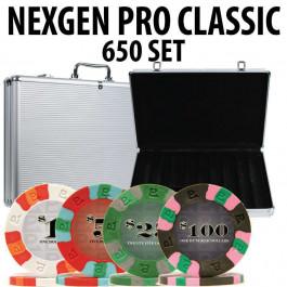 Nexgen Pro Classic Poker Chips 650 W / Aluminum Case