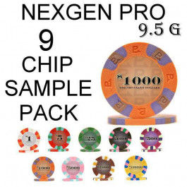Nexgen Pro Classic SAMPLE PACK 9 CHIPS
