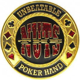 Card Cover in Capsule :  The Nuts : Unbeatable Poker Hand Gold