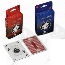 Ovalyon 100% Plastic Playing Cards Poker Peek 2 decks Red/Blue