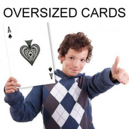 "Super Jumbo Oversize Playing Cards 8.25""x11.75"""