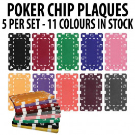 Rectangular Poker Chip Plaques : Sold by pack of 5
