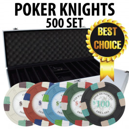 Poker Knights 500 Poker Chip Set W/ Aluminum case