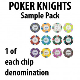 Poker Knights 14g SAMPLE PACK 12 CHIPS