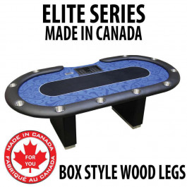 POKER TABLE SPS ELITE - Blue Dealer Table With Box Style Legs