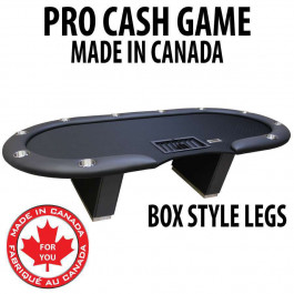 Pro Cash Game Poker Table : BLACK with box style legs