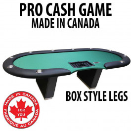 Pro Cash Game Poker Table : GREEN with box style legs