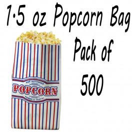 500 POPCORN BAGS 1.5 OZ