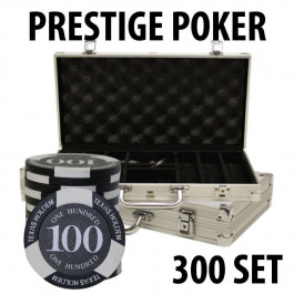 Prestige Poker Chips 300 Chip Set with Aluminum case