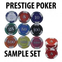 Prestige Poker Chips 12g SAMPLE PACK 9 CHIPS
