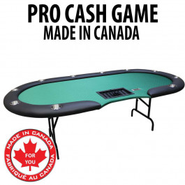 Pro Cash Game Table : Green With Steel Folding Legs