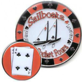 Poker Protector Card Guard Cover : 4-4 Sailboats
