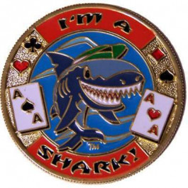 Poker Protector Card Guard Cover in Capsule :  I'm a Shark