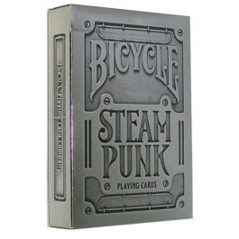 Bicycle Playing Cards STEAMPUNK SILVER Plastic Coated Cards