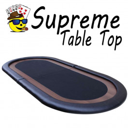 Supreme Poker Table top w/padded playing surface Black