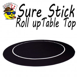 Sure Stick Rubber Table Top - Black Round