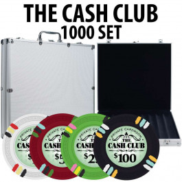 Cash Club 1000 Poker Chip Set W/ Aluminum Case