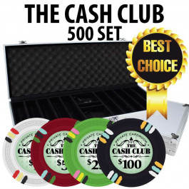 Cash Club 500 Poker Chip Set W/ Aluminum case