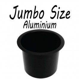 Aluminum Cup Holder Vivid Black Jumbo for Poker or Blackjack Table