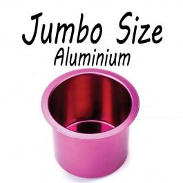 Aluminum Cup Holder Vivid Red Jumbo for Poker or Blackjack Table