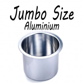 Aluminum Cup Holder Vivid Sliver Jumbo for Poker or Blackjack Table